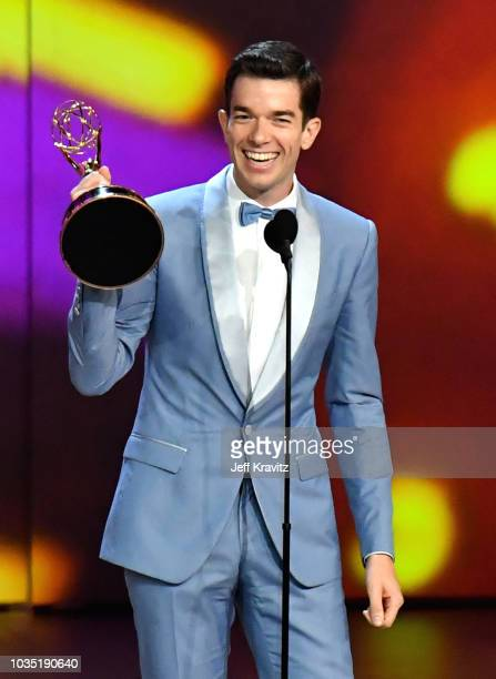 John Mulaney accepts the award for Outstanding Writing for a Variety Special onstage during the 70th Emmy Awards at Microsoft Theater on September 17...