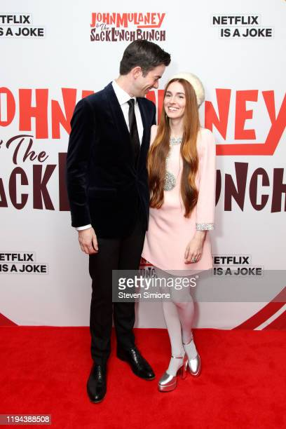 John Mulaney and Annamarie Tendler at the John Mulaney The Sack Lunch Bunch New York Premiere at Metrograph on December 16 2019 in New York City