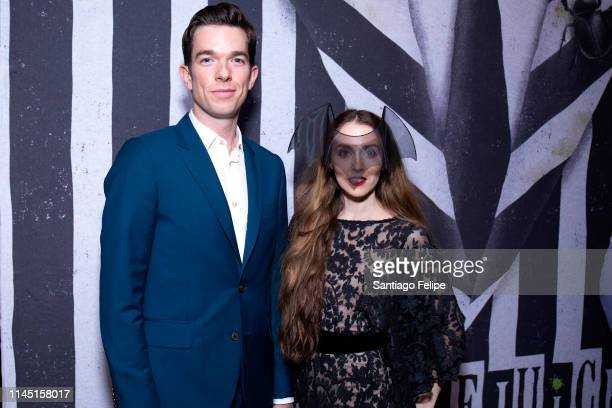 John Mulaney and Annamarie Tendler attend Beetlejuice Broadway opening night after party at The Copacabana Time Square on April 25 2019 in New York...