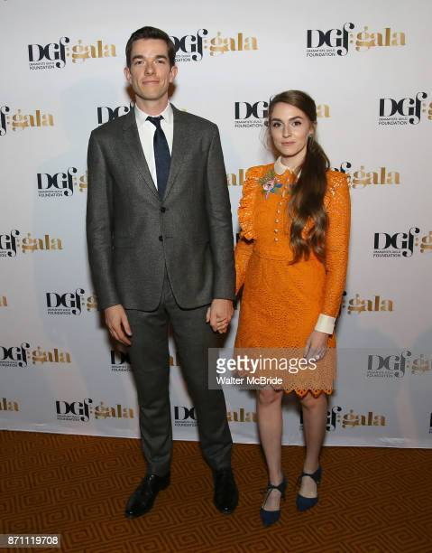 John Mulaney and Annamarie Tendler attend the 2017 Dramatists Guild Foundation Gala reception at Gotham Hall on November 6 2017 in New York City
