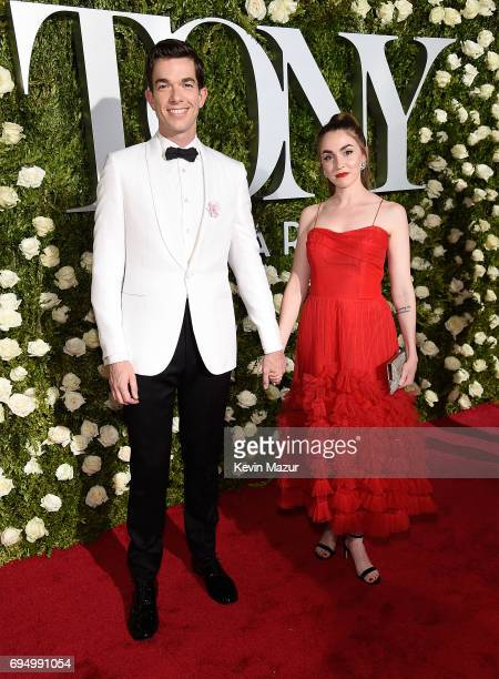 John Mulaney and Annamarie Tendler attend the 2017 Tony Awards at Radio City Music Hall on June 11 2017 in New York City