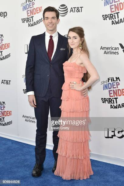 John Mulaney and Annamarie Tendler attend the 2018 Film Independent Spirit Awards Arrivals on March 3 2018 in Santa Monica California