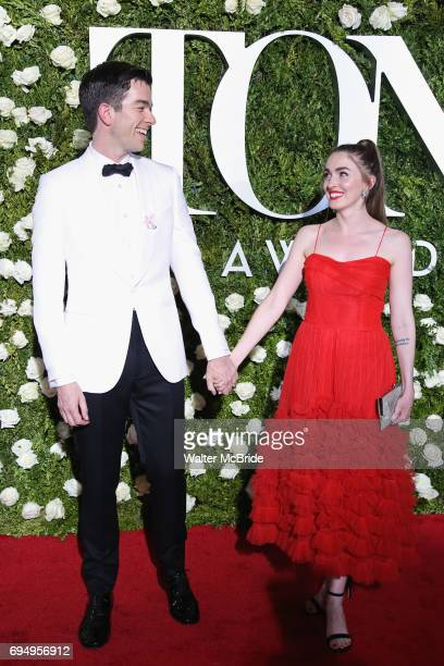 John Mulaney and Annamarie Tendler attend the 71st Annual Tony Awards at Radio City Music Hall on June 11 2017 in New York City