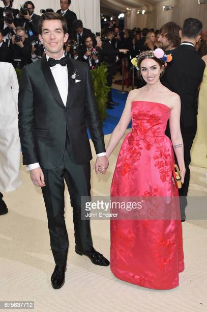 John Mulaney and Annamarie Tendler attend the 'Rei Kawakubo/Comme des Garcons Art Of The InBetween' Costume Institute Gala at Metropolitan Museum of...