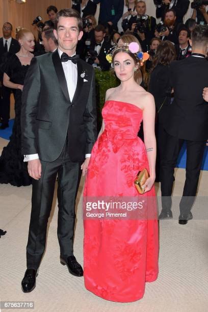 John Mulaney and Annamarie Tendler attend the Rei Kawakubo/Comme des Garcons Art Of The InBetween Costume Institute Gala at Metropolitan Museum of...