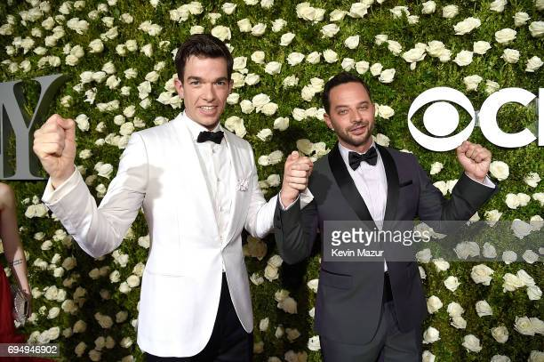 John Mulaney and Nick Kroll attend the 2017 Tony Awards at Radio City Music Hall on June 11 2017 in New York City