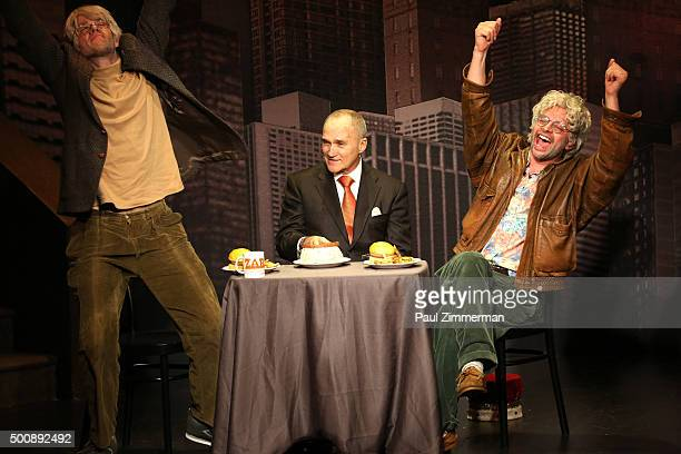 John Mulaney and Nick Kroll perform on stage with special guest former Commissioner of the New York City Police Department Ray Kelly during OH HELLO...