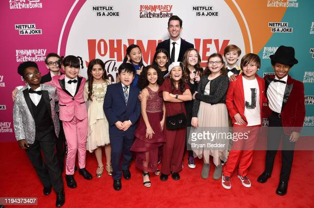 John Mulaney and the Sack Lunch Bunch attend the John Mulaney The Sack Lunch Bunch NY Special Screening at The Metrograph on December 16 2019 in New...