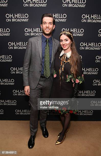 John Mulaney and wife Annamarie Tendler attend the opening night performance after party press reception for 'Oh Hello On Broadway' at Brasserie 8...