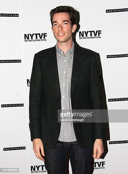 John Mulaney attends Mulaney On Mulaney Or How I Learned To Stop Worrying And Love The ThreeCamera Sitcom at the 2014 New York Television Festival at...