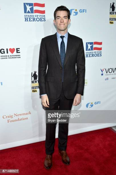 John Mulaney attends the 11th Annual Stand Up for Heroes Event presented by The New York Comedy Festival and The Bob Woodruff Foundation at The...
