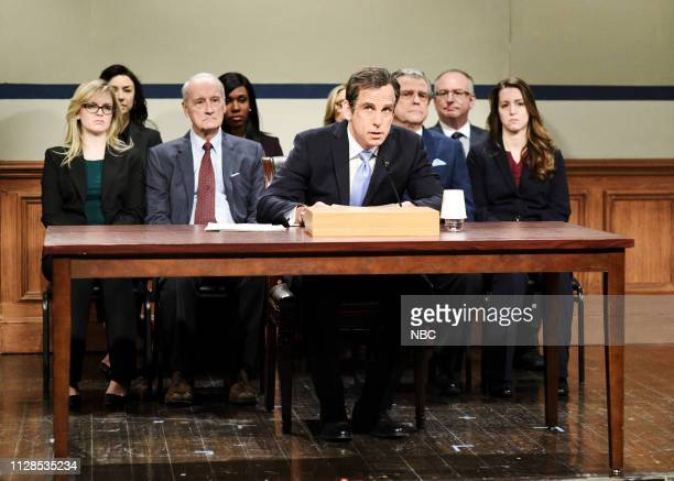 LIVE John Mulaney Episode 1760 Pictured Ben Stiller as Michael Cohen during the Michael Cohen Hearing Cold Open on Saturday March 2 2019