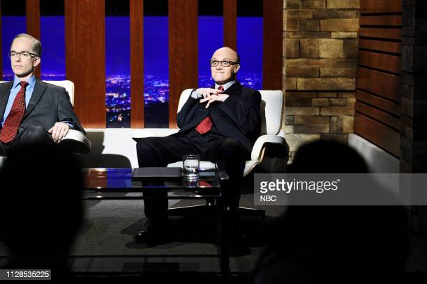 LIVE John Mulaney Episode 1760 Pictured Host John Mulaney as Alan Dershowitz and Kate McKinnon as Rudy Giuliani during the Legal Shark Tank sketch on...