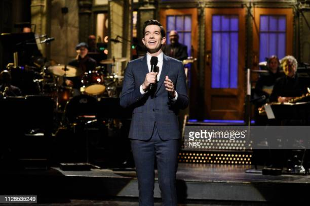 LIVE John Mulaney Episode 1760 Pictured Host John Mulaney during the Mulaney StandUp Monologue on Saturday March 2 2019