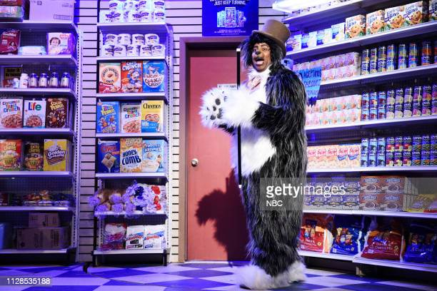 LIVE 'John Mulaney' Episode 1760 Pictured Kenan Thompson as the Bodega Cat during the 'Bodega Bathroom' sketch on Saturday March 2 2019