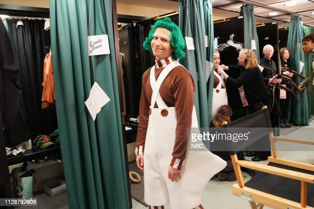 LIVE John Mulaney Episode 1760 Pictured Kyle Mooney as an Oompa Loompa backstage in Studio 8H on Saturday March 2 2019
