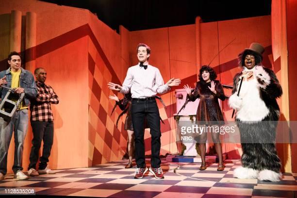 LIVE 'John Mulaney' Episode 1760 Pictured Pete Davidson Chris Redd host John Mulaney as the Bodega Man Cecily Strong and Kenan Thompson as the Bodega...