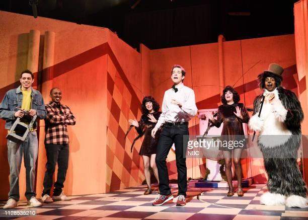 LIVE 'John Mulaney' Episode 1760 Pictured Pete Davidson Chris Redd Melissa Villaseñor host John Mulaney as the Bodega Man Cecily Strong and Kenan...