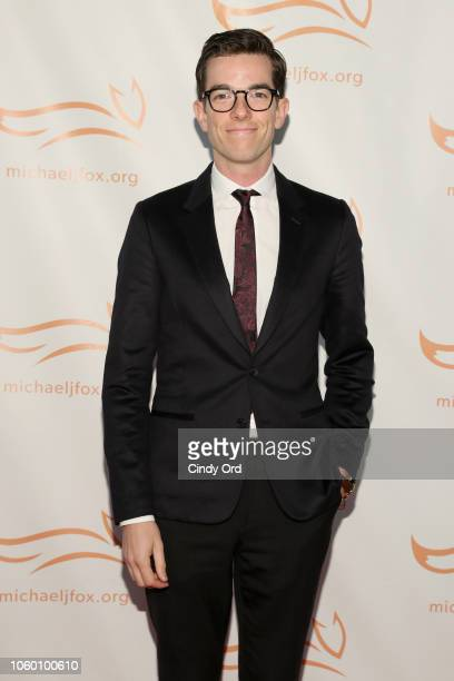 John Mulaney on the red carpet of A Funny Thing Happened On The Way To Cure Parkinson's benefitting The Michael J Fox Foundation at the Hilton New...