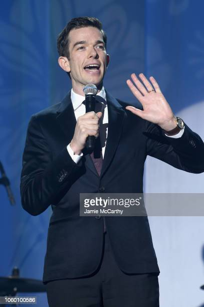 John Mulaney performs on stage at A Funny Thing Happened On The Way To Cure Parkinson's benefitting The Michael J Fox Foundation at the Hilton New...