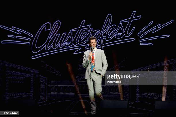 John Mulaney performs on the Bill Graham Stage during Clusterfest at Civic Center Plaza and The Bill Graham Civic Auditorium on June 1 2018 in San...