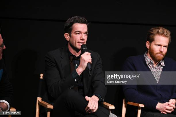 John Mulaney speaks at the Doc Now Red Carpet and Screening at IFC Center on February 19 2019 in New York City