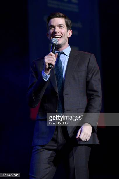 John Mulaney speaks onstage during the 11th Annual Stand Up for Heroes Event presented by The New York Comedy Festival and The Bob Woodruff...
