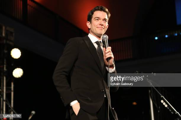 John Mulaney speaks onstage during The American Museum of Natural History's 2019 Museum Gala at American Museum of Natural History on November 21...