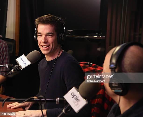 John Mulaney visits 'The Opie Radio Show' at SiriusXM Studios on November 4, 2014 in New York City.