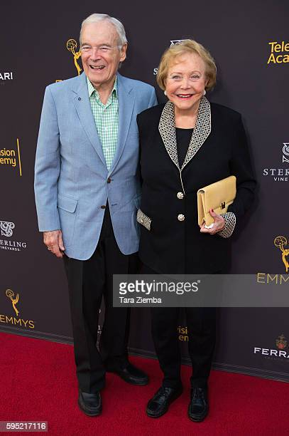 John Mulford and CoCreator Lee Phillip Bell and her husband attend Television Academy's Daytime Television Celebration at Saban Media Center on...