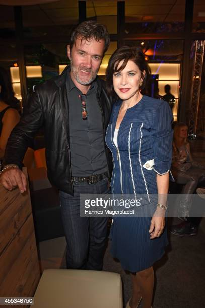John Munich John Juergens and actress Anja Kruse attend the Arcona Living Munich Opening on September 12 2014 in Munich Germany