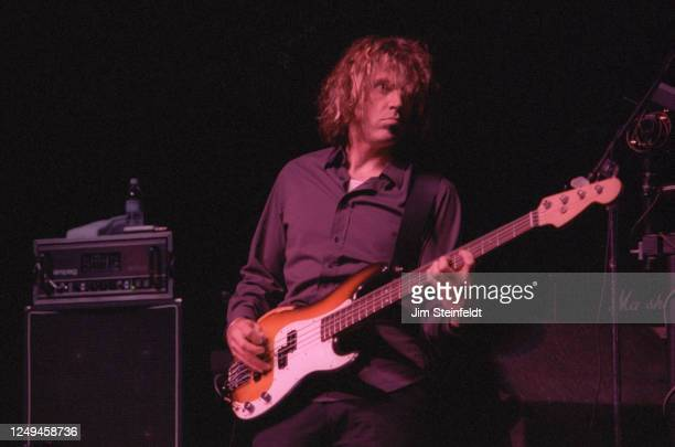 John Munson of the rock band Semisonic performs at the Universal Amphitheatre in Los Angeles, California on August 28, 1998.