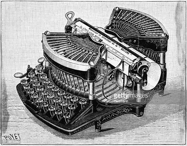 John N Williams' typewriter 1890 Undated engraving