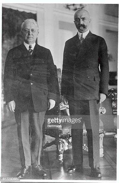 John N. Willys, motor magnate who recently took up the ambassadorial reins in Poland, is seen here with Walery Slawek, Premiere of Poland, after...