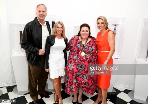 John Naber Nadia Comaneci Chrissy Metz and Summer Sanders attend GOLD MEETS GOLDEN The 5th Anniversary Refreshed by CocaCola Globes Weekend Gets...