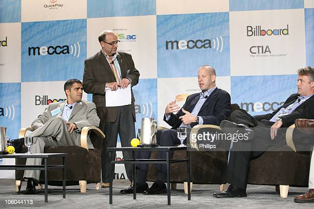 John Najarian SVP of E Entertainment Televsion Brian Seth Hurst moderator and CEO of The Opportunity Mgmt Company David Dorn SVP of Rhino...