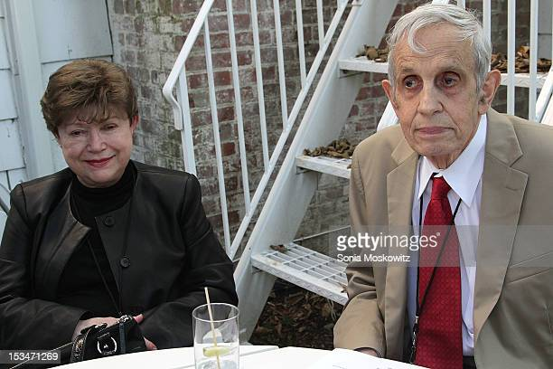 John Nash and wife Alicia Nash attend the Nobel Laureate Exhibition Reception during the 20th Hamptons International Film Festival at The Maidstone...