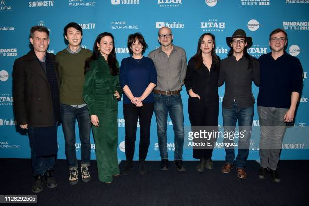 John Nein Bing Liu Elizabeth Chai Vasarhelyi Betsy West Logan Hill Alexandria Bombach Jeff Orlowski and Harrison Vaughn attend the Talent Forum...