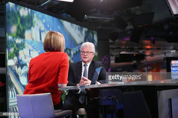 John Nelson chairman of Lloyds of London center speaks during a Bloomberg Television interview in London UK on Wednesday Jan 28 2015 Lloyd's of...