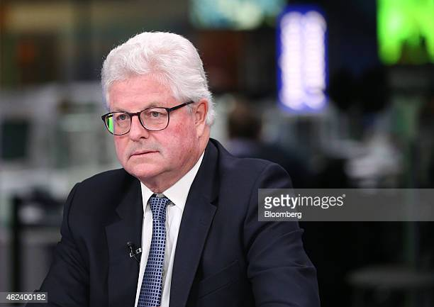 John Nelson chairman of Lloyds of London pauses during a Bloomberg Television interview in London UK on Wednesday Jan 28 2015 Lloyd's of London the...