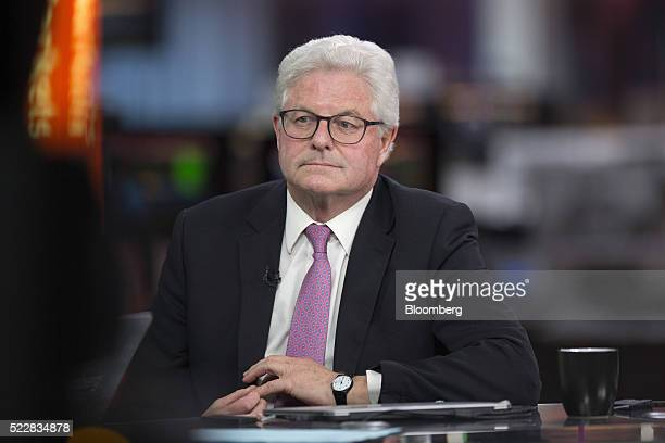 John Nelson chairman of Lloyd's of London pauses during a Bloomberg Television interview in London UK on Thursday April 21 2016 Lloyd's of London the...