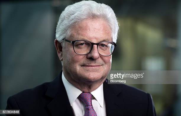 John Nelson chairman of Lloyds of London poses for a photograph following a Bloomberg Television interview in London UK on Thursday April 21 2016...
