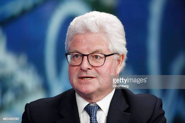 John Nelson chairman of Lloyds of London speaks during a Bloomberg Television interview in London UK on Wednesday Jan 28 2015 Lloyd's of London the...