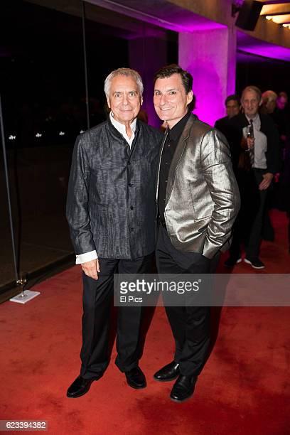 John Neumeier and David McCallister at The opening night of the Australian Ballets Najinsky on November 11 2016 in Sydney Australia