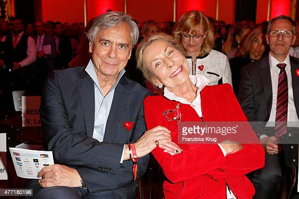 John Neumeier and Edda Darboven attend the 'Das Herz im Zentrum' Charity Gala on June 14, 2015 in Hamburg, Germany.