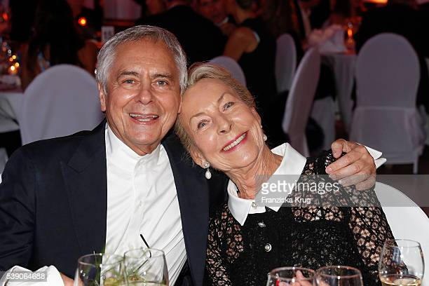 John Neumeier and Edda Darboven attend the 'Das Herz im Zentrum' Charity Gala on June 9, 2016 in Hamburg, Germany.