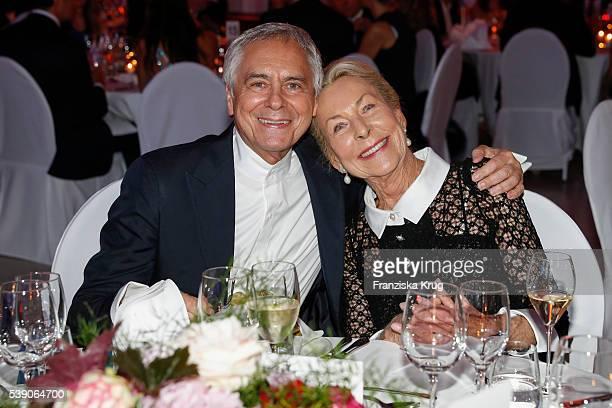 John Neumeier and Edda Darboven attend the 'Das Herz im Zentrum' Charity Gala on June 9 2016 in Hamburg Germany