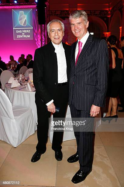 John Neumeier and Hermann Reichenspurner attend the 'Das Herz im Zentrum' Charity Gala on June 13, 2014 in Hamburg, Germany.