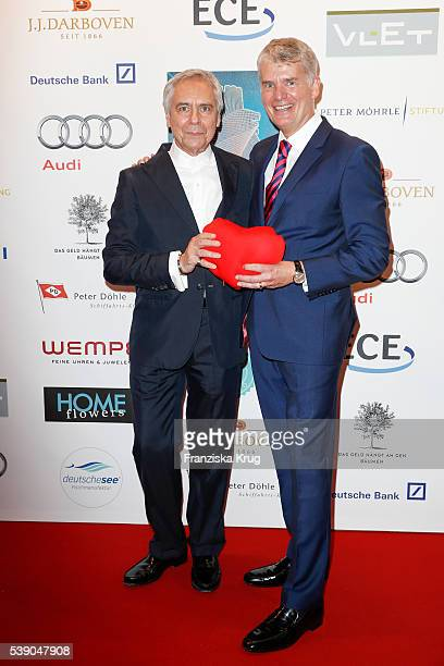 John Neumeier and Hermann Reichenspurner attend the 'Das Herz im Zentrum' Charity Gala on June 9, 2016 in Hamburg, Germany.