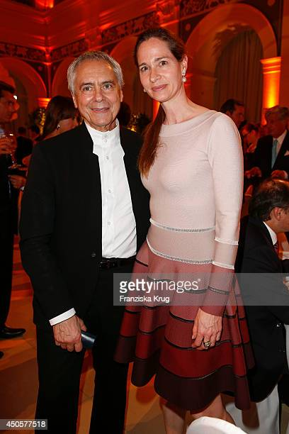 John Neumeier and Natalie Jacob attends the 'Das Herz im Zentrum' Charity Gala on June 13, 2014 in Hamburg, Germany.